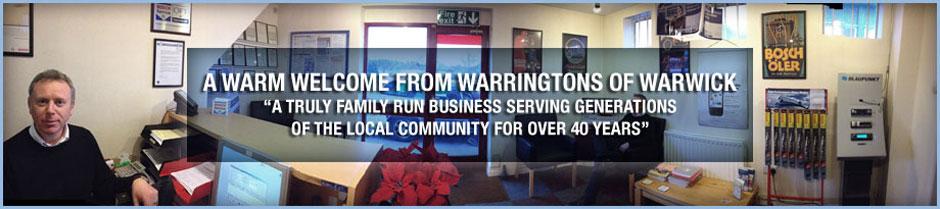welcome to warringtons of warwick
